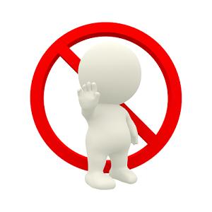 禁止标志标识牌