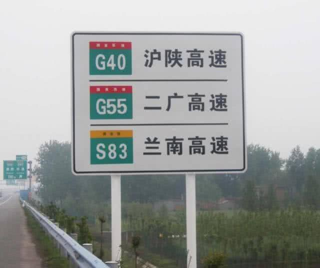 交通高速指示牌
