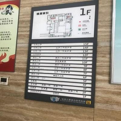 医院标识标牌索引牌楼层指示牌