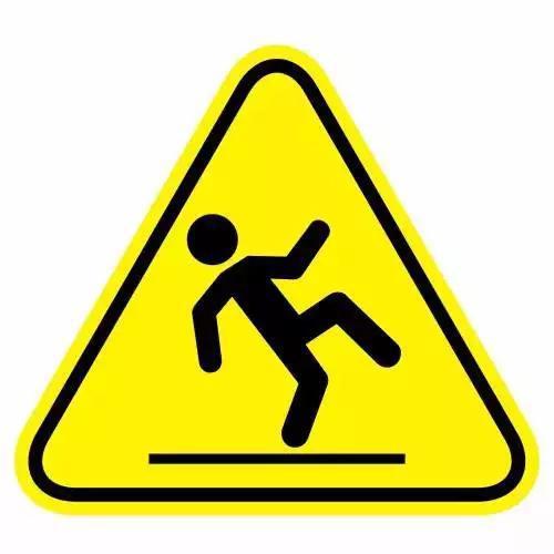 小心地滑警告标志